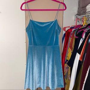 Urban Outfitters Velvet Straight-Neck Mini Dress